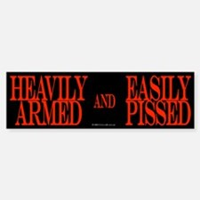 Heavily Armed Bumper Bumper Bumper Sticker