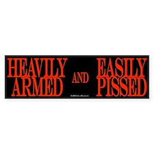 Heavily Armed Bumper Bumper Sticker