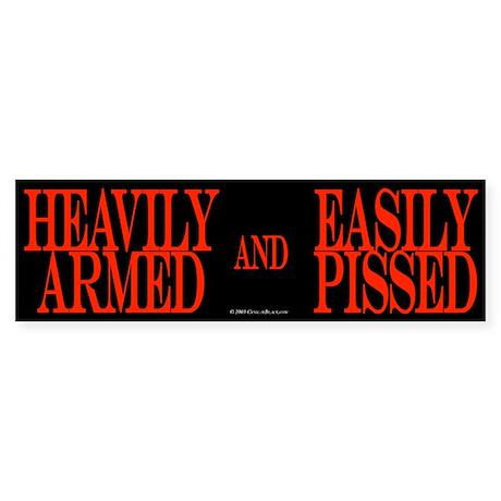 Heavily Armed Bumper Sticker