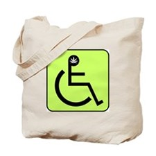 Wheelchair Weed Tote Bag w/ pot head