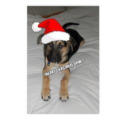 Christmas German Shepherd Postcards (Package of 8)