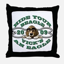 Vick Beagle Eagle Disguised Throw Pillow