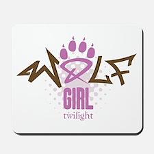 Twilight Wolf Girl Mousepad