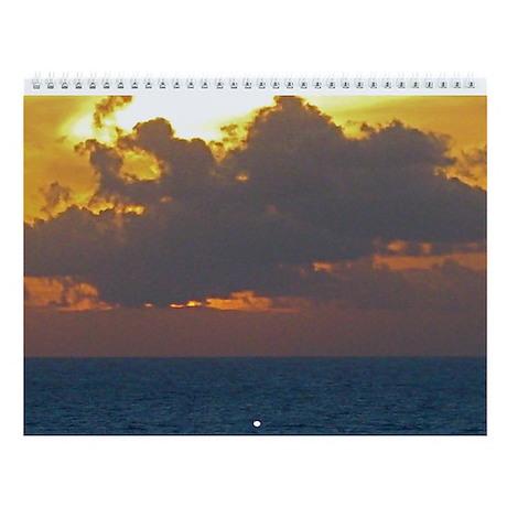Tahiti Sunset Wall Calendar