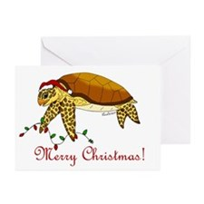 Christmas Sea Turtle Greeting Cards (Pk of 20)