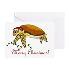 Christmas Sea Turtle Greeting Card