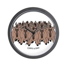 Wildebeest Wall Clock