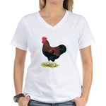 Partridge Rock Rooster Women's V-Neck T-Shirt