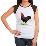 Partridge Rock Rooster Women's Cap Sleeve T-Shirt