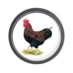 Partridge Rock Rooster Wall Clock