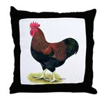 Partridge Rock Rooster Throw Pillow