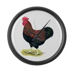 Partridge Rock Rooster Large Wall Clock