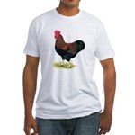 Partridge Rock Rooster Fitted T-Shirt
