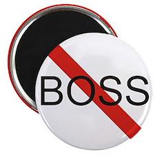 """No Boss 2.25"""" Magnet (100 pack)"""