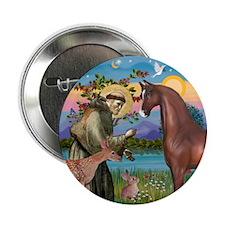 "St Francis/Horse (Ar-Brn) 2.25"" Button (10 pack)"