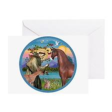 St Francis/Horse (Ar-Brn) Greeting Card