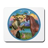Brown arabian horse Mouse Pads