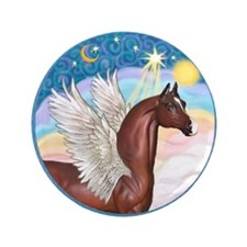 """Clouds/Horse (Ar-Br) 3.5"""" Button"""