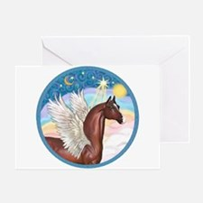 Clouds/Horse (Ar-Br) Greeting Card