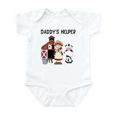 Daddy's Helper Farm Girl Infant Bodysuit
