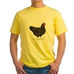 Partridge Rock Hen Yellow T-Shirt