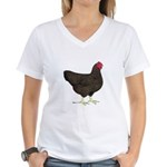 Partridge Rock Hen Women's V-Neck T-Shirt