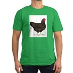 Partridge Rock Hen Men's Fitted T-Shirt (dark)