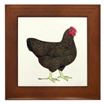 Partridge Rock Hen Framed Tile