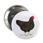 "Partridge Rock Hen 2.25"" Button"