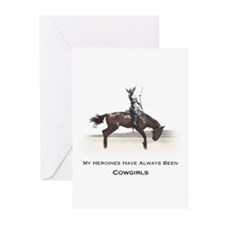 cowgirl heroines Greeting Cards (Pk of 10)