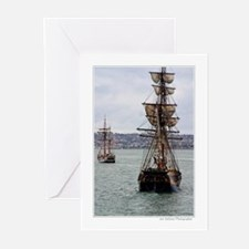 Patriotic tall ships Greeting Cards (Pk of 10)