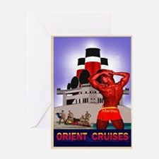orient cruises Greeting Card