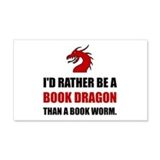 Rather Book Dragon Than Worm Wall Decal