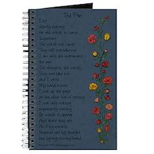 """The Pen"" Poem/Rose Trellis Journal"