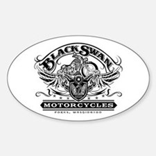 Black Swan Motorcycles Oval Decal