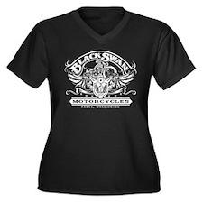 Black Swan Motorcycles Women's Plus Size V-Neck Da