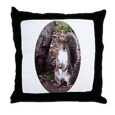 Bushy Tail Squirrel Throw Pillow