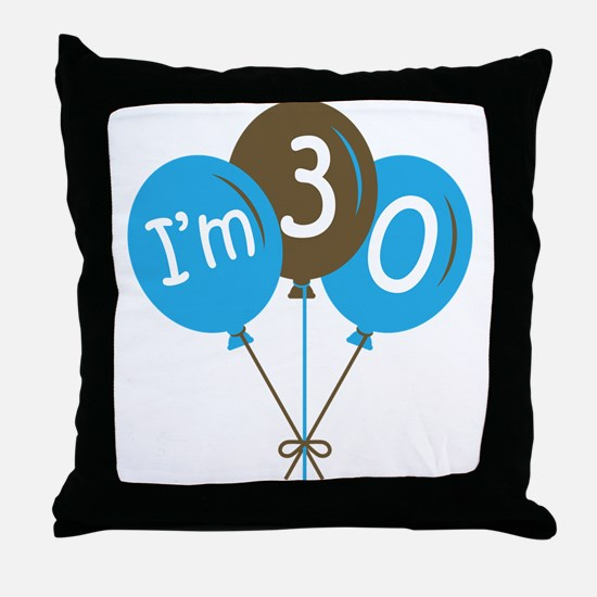 Fun 30th Birthday Throw Pillow