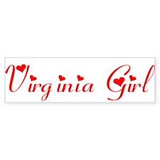 Virginia Girl Bumper Bumper Bumper Sticker