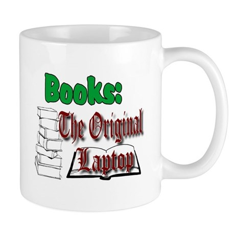 Books: the Original Laptop Mug