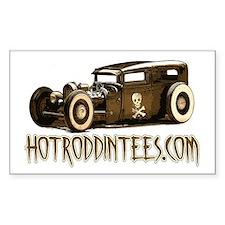 Hot Roddin tees-Rat Rod Rectangle Decal