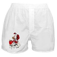 SANTA AND THE PUPPIES Boxer Shorts