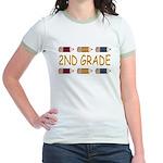 Fun 2nd Grade Jr. Ringer T-Shirt