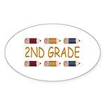 Fun 2nd Grade Oval Sticker (10 pk)