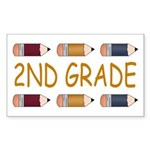 Fun 2nd Grade Rectangle Sticker 10 pk)