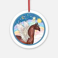 Brown Arabian Horse Angel Ornament (Round)