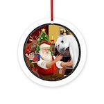 Santa's white Arabian Horse Ornament (Round)