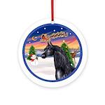 Take Off2-Black Arabian Horse Ornament (Round)
