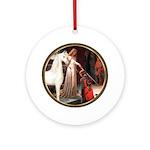 Accoldade-White Arabian Horse Ornament (Round)