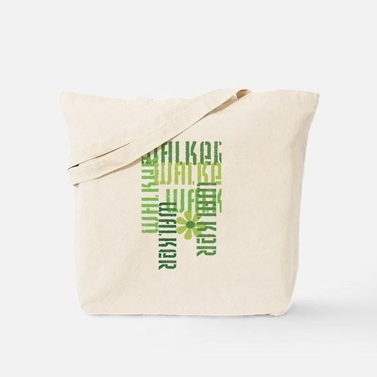 Green Fitness Walker Tote Bag